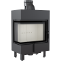 Kratki Lucy 12 12kw Inset Stove Left Side Glass - LUCY/12/L/BS