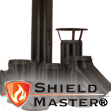 "Black 5"" (125mm) Shieldmaster Twin Wall Flue"