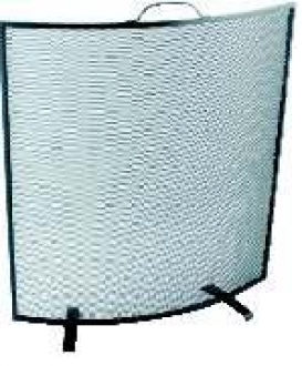Curved Black Fire Screen