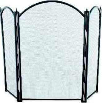 3 Fold Wings Black Fire Screen