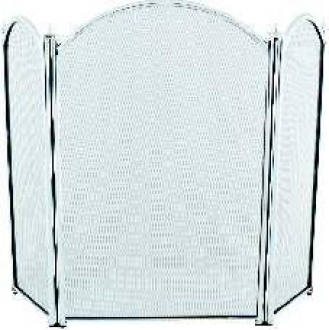 3 Fold Wings Chrome Fire Screen