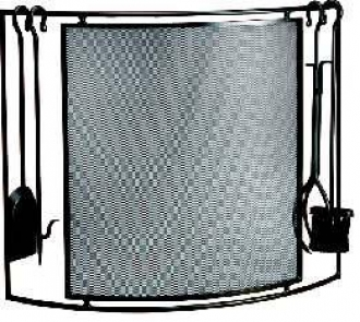 Laura  Fire Screen (screen with tools)