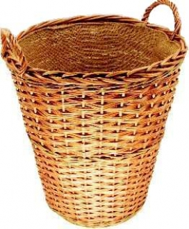 Buff Willow Log Basket