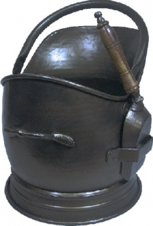 Stanton All Black with Shovel Coal Bucket