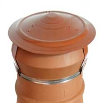 Terracotta Eco Disused Chimney Cap - strap fix