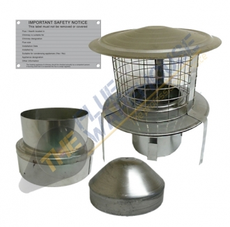 5 Inch Kit 3 (Chimney Liner Installation Kit with Hanging Cowl)