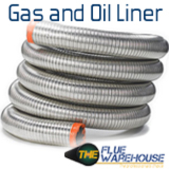6 Diameter Inch Gas and Oil Flexible Chimney Liner (Per Metre)