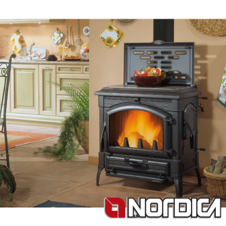 La Nordica Isotta 11.9kw Wood Burning Stove With Hotplate