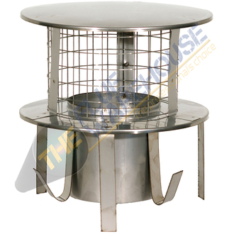 6 Inch Pot Hanger Stainless Steel with rain cap mesh