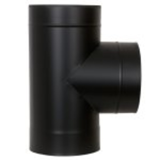 "5"" (125mm) 90° Tee Piece - Black"