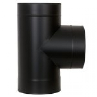 "6"" (150mm) 90° Tee Piece - Black"