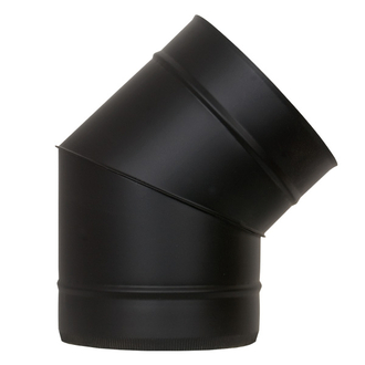 "6"" (150mm) 45° Elbow - Black"