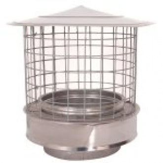 "6"" (150mm) Rain Cap With Birdguard"