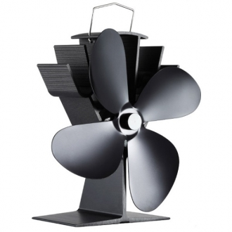 Woolly Mammoth Swift Plus Stove Fan Black