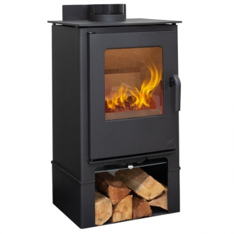 Mendip Loxton 8 MK4 -7.5kwDefra Multifuel Stove With Log Store