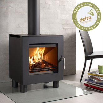 Westfire Uniq 23 6.1kw Defra Approved Stove 100mm Legs