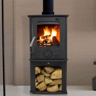 Henley Druid Defra Multifuel Stove With Log Store 5kw