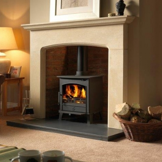 ACR Earlswood 5kw Steel Multifuel stove with logstore