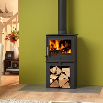 ACR Malvern Defra Multifuel Stove With Log Store 5kw