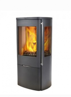 Jydepejsen Senza Steel With Side Glass 5kw Wood Burning Stove