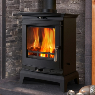 Flavel Rochester 5kw Multifuel Stove - Black Trim