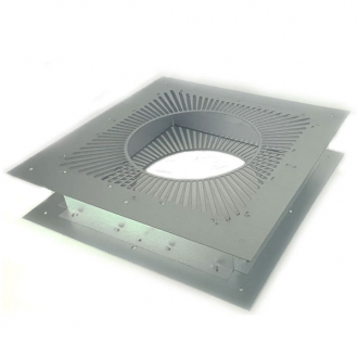 "6"" (150mm) Double Ventilated Fire Stop Plate"