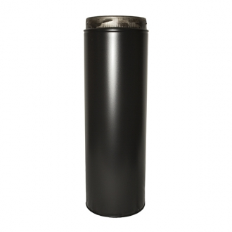 "5"" (125mm) 1000mm Pipe Inc Locking Band Sflue Black"