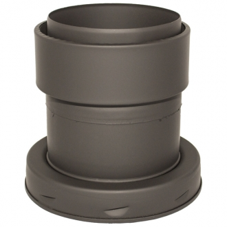"5"" (125mm) Adaptor To Flexible Flue Liner Sflue Black"