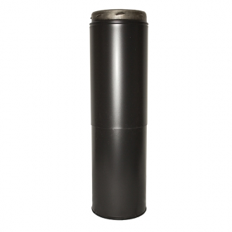 "6"" (150mm) 350-530mm Adjustable Length Sflue Black"