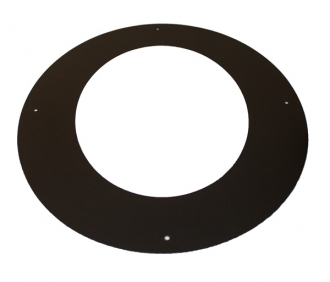 "6"" (150mm) 45 Degree Wall Cover Ring Sflue Black"