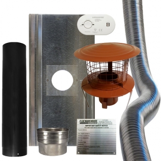 10 Meters of 5 Inch Chimney Liner & Fitting Kit