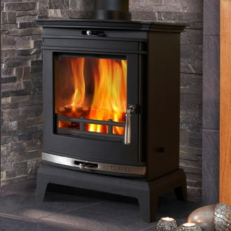 Flavel Rochester 5kw Multifuel Wood Burning Stove - Chrome Trim