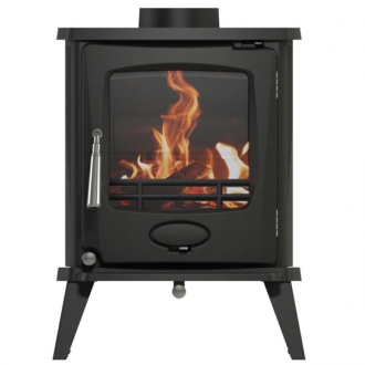 Newman Fireplaces Sherbourne 4.9kw Defra Multifuel Stove - Matt Black