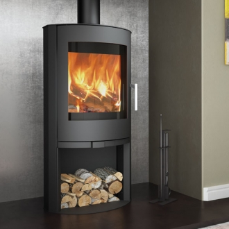 Evolution Flair 8kw Wood Burning Stove With Log Store