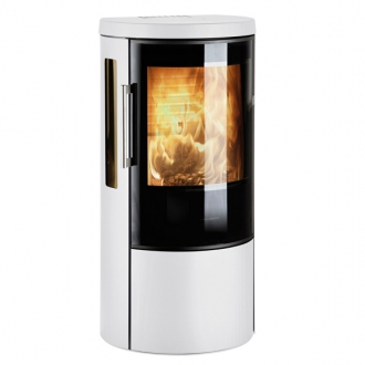 Hwam 3630 6kw Defra Wood Burning Stove - Glass Door - White