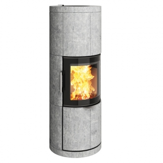 Hwam 7150 4.5kw Stove With Soapstone Cover & Glass Door