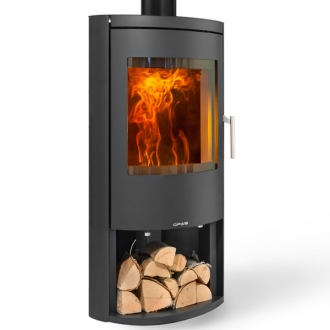 Opus Harmony 7kw Multifuel Stove With Log Store