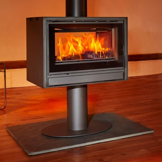 Opus Tempo 100 7-14kw Double Sided Wood Burning Stove