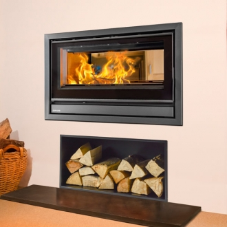 Opus Tempo 80 6-10kw Double Sided Wood Burning Inset Stove