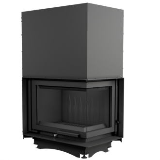 Kratki Maja 8kw Inset Stove - Right Side Glass, Guillotine Door