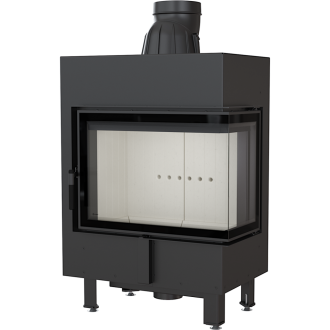 Kratki Lucy 12 12kw Inset Stove Right Side Glass - LUCY/12/P/BS