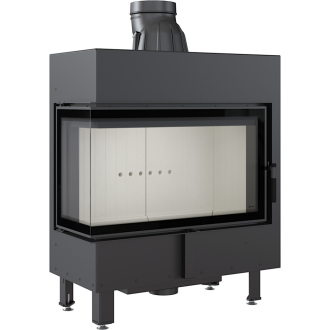 Kratki Lucy 14 14kw Inset Stove Left Side Glass - LUCY/14/L/BS