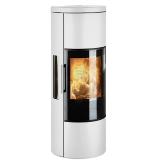 Hwam 3650 6kw Defra Wood Burning Stove With Glass Door - White
