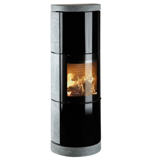 Hwam 3530 4.5kw Wood Burning Stove Soapstone Cover & Glass Door