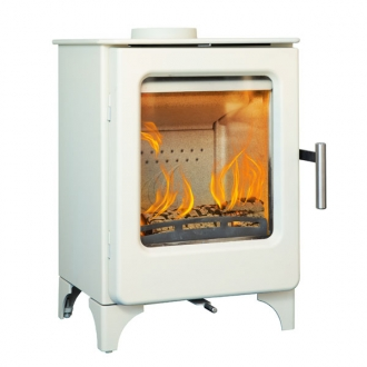 Mendip Ashcott 4.7kw Defra Wood Burning Stove (Ivory Painted)