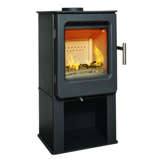 Mendip Ashcott Defra Multifuel Stove With Log Store 4.7kw