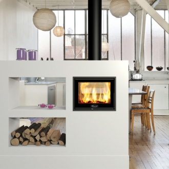 Dovre Zen 102 4.75kw Double Sided Inset Wood Burning Stove