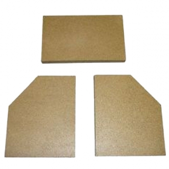 Woolly Mammoth 5 Wide Screen Replacement Vermiculite Fire Bricks