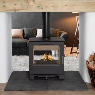 Mendip Woodland MK4 8kw Defra Double Sided Multifuel Stove