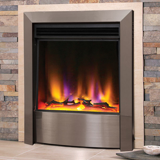 Celsi Electriflame VR Contemporary 1.5kw Inset Electric Fire - Silver